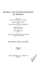 Mineral and Water Resources of Arizona Book