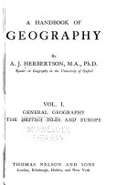 A Handbook of Geography  General geography  The British Isles and Europe