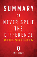 Summary of Never Split the Difference Pdf/ePub eBook