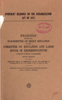 Oversight Hearings on the Rehabilitation Act of 1973