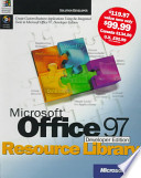 Microsoft Office 97, Developer Ed., Resource Library, with CD
