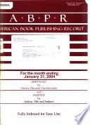 American Book Publishing Record  , Volume 45,Edições 1-2