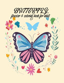 Butterfly Flower   Coloring Book For Adults