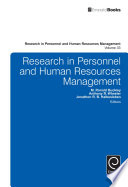 """Research in Personnel and Human Resources Management"" by M. Ronald Buckley, Anthony R. Wheeler, Jonathon R. B. Halbesleben"