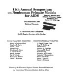 11th Annual Symposium on Nonhuman Primate Models for AIDS Book