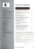 Studies In Intelligence