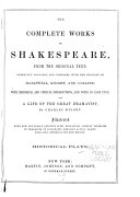 The Complete Works of Shakespeare  from the Original Text  Historical plays