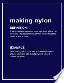 Urban Dictionary Funny 'making Nylon' Lined Notebook. Journal & Exercise Book (Blue)