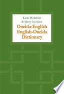 Oneida English English Oneida Dictionary Book PDF