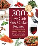 300 Low-Carb Slow Cooker Recipes Pdf/ePub eBook