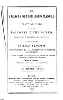 The Railway Shareholder s Manual     Second edition