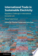International Trade in Sustainable Electricity Book