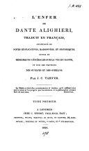 Pdf L'Inferno, colla interpretazione dei passi oscuri (tr.) da J.C. Tarver