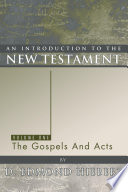 An Introduction to the New Testament  Volume 1