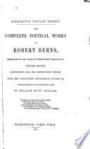 The Complete Poetical Works of Robert Burns  Book