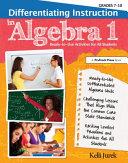Differentiating Instruction in Algebra