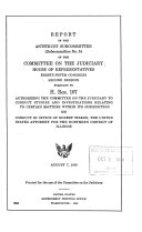 Report on the Antitrust Subcommittee  Subcommittee No  5