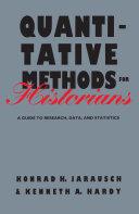 Quantitative Methods for Historians