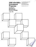 NIH ADAMHA Extramural Programs