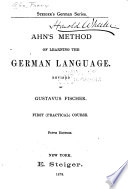 Ahn s Method of Learning the German Language Book