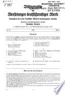 Bibliographie der Übersetzungen deutschsprachiger Werke