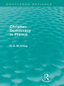 Pdf Christian Democracy in France (Routledge Revivals) Telecharger