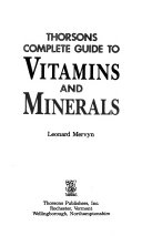 Thorsons Complete Guide to Vitamins   Minerals
