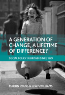 A generation of change, a lifetime of difference? Pdf/ePub eBook