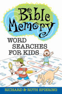 Bible Memory Word Searches for Kids