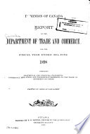 Annual Report of the Department of Trade and Commerce for the Fiscal Year Ending March 31