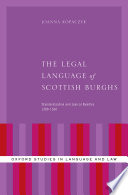 The Legal Language of Scottish Burghs