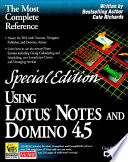 Using Lotus Notes and Domino 4.5