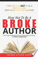 How Not To Be A Broke Author