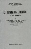 Pdf LES REPARATIONS ALLEMANDES ET LA FRANCE Par ETIENNE WEILL-RAYNAL Telecharger