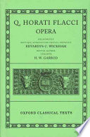 Cover image of Q. Horati Flacci opera