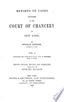 Reports of Cases Adjudged in the Court of Chancery of New York Book