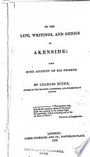 On the Life, Writings, and Genius of Akenside