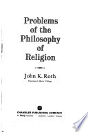 Problems of the Philosophy of Religion