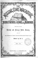 The Missing Link Magazine, Or, Bible Work at Home and Abroad