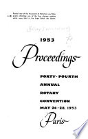 Proceedings ... Annual Convention of Rotary International