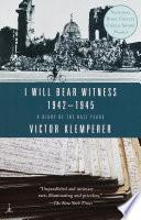 I Will Bear Witness  Volume 2 Book