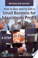 How To Buy And Or Sell A Small Business For Maximum Profit Book PDF