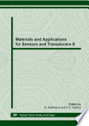 Materials and Applications for Sensors and Transducers II Book