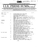Press Summary - Illinois Information Service