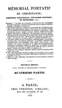 Mémorial Portatif de Chronologie, d'Histoire Industrielle, d'Économie Politique, etc. Nouvelle édition ... augmentée. [By Count E. de Laubespin.]