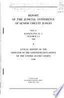 Report of the Judicial Conference of Senior Circuit Judges Book PDF