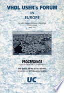 Vhdl User S Forum In Europe Book PDF