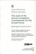 Pdf The Work of the Service Complaints Commissioner for the Armed Forces