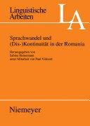 Sprachwandel und (Dis-)Kontinuität in der Romania
