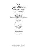 The Mark J  Millard Architectural Collection  British books  seventeenth through nineteenth centuries